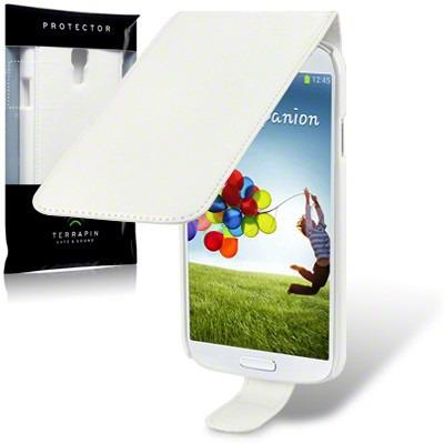 Etui Terrapin do Samsung i9500 Galaxy S4  skórzane - biały