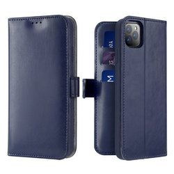 DUX DUCIS Kado kabura etui portfel z klapką iPhone 11 Pro niebieskie