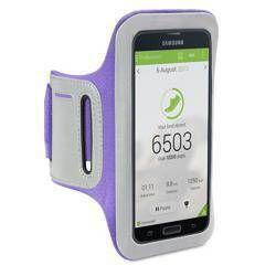 Etui sportowe Shocksock do Samsung Galaxy S5 odblaskowe - fioletowy