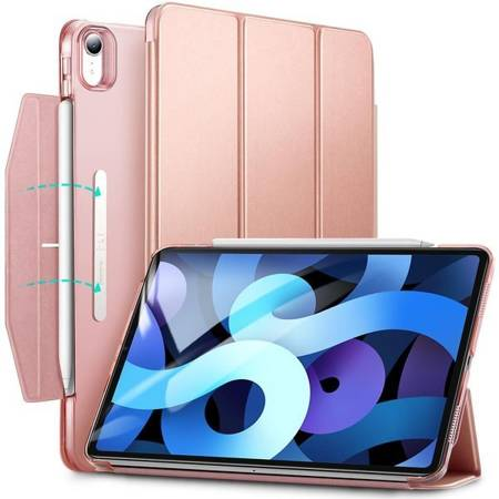 ETUI ESR ASCEND TRIFOLD JELLY PINK + SZKŁO HARTOWANE ESR DO IPAD AIR 4 2020