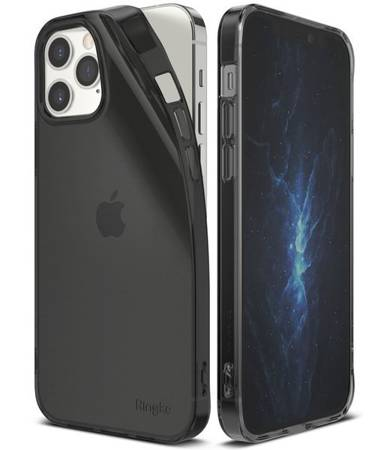 ETUI RINGKE AIR IPHONE 12/12 PRO SMOKE BLACK