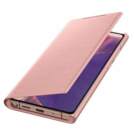 Etui Do Samsung Note 20, Różowy, LED View Cover