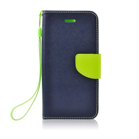 Etui  Fancy Book do SONY Xperia E4G granatowe ze standem