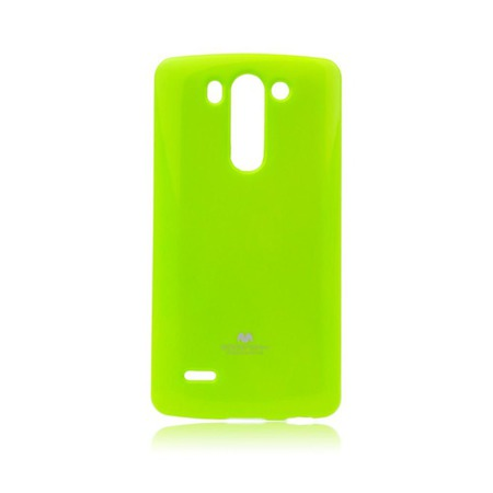 Etui Goospery Jelly Mercury do LG G3 mini gumowe - limonkowe