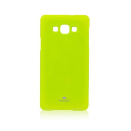 Etui Goospery Jelly Mercury do Samsung Galaxy A7 gumowe - limonkowe