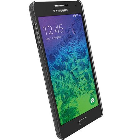 Etui Krusell FrostCover do Samsung Galaxy A7 2015 - czarne przeżroczyste