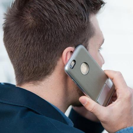 Etui Moshi iGlaze Kameleon z podstawką do Apple iPhone Plus/6S Plus - białe