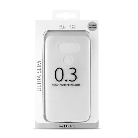 Etui PURO Slim 0,3mm do LG G5 półprzezroczyste + folia LCD