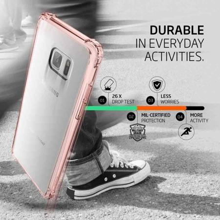 Etui SPIGEN SGP CRYSTAL SHELL do Samsung Galaxy Note FE / Note 7 różowe