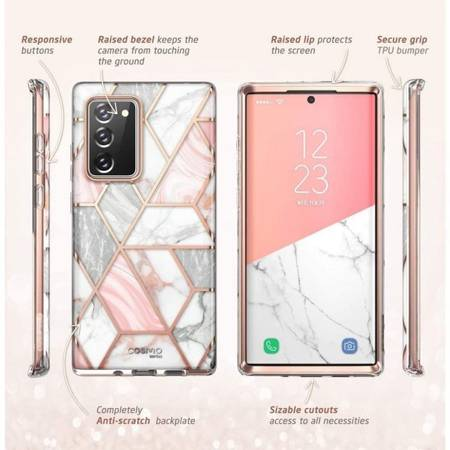 Etui SUPCASE COSMO GALAXY NOTE 20 MARBLE