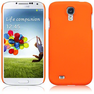 Etui Samsung i9500 Galaxy S4 - sztywne odblaskowe pomarańczowe