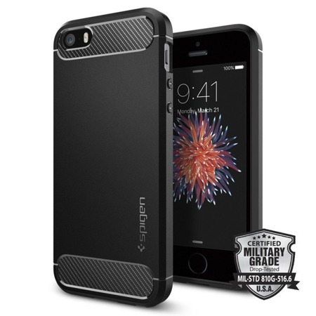 Etui Spigen SGP Rugged do Apple iPhone 5 / 5S / 5SE czarne