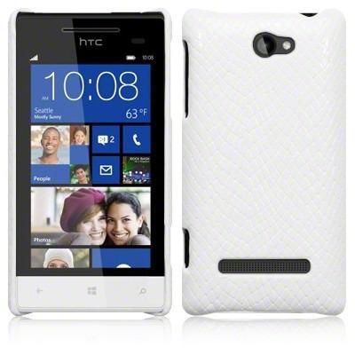 Etui Terrapin do HTC 8S skórzane Snake  - biały
