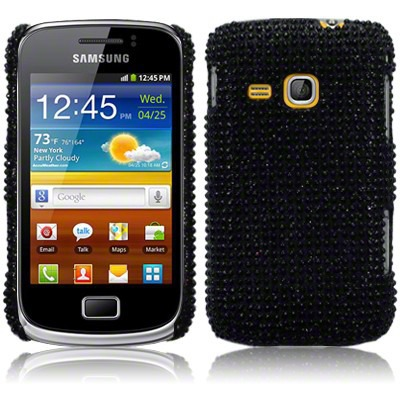 Etui Terrapin do Samsung Galaxy Mini 2 S6500  diamentowe - czarny