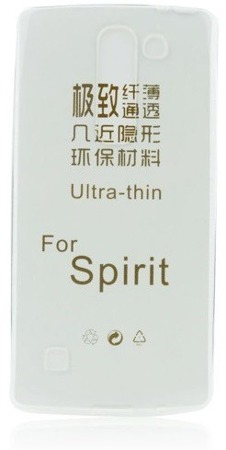 Etui silikonowe do LG Spirit ultra cienkie - przeźroczyste