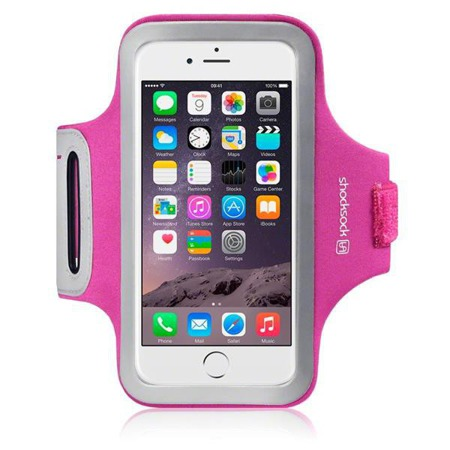 "Etui sportowe Shocksock do Apple iPhone 6 4,7"" odblaskowe - różowy"