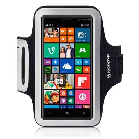 Etui sportowe Shocksock do Nokia Lumia 830 odblaskowe - czarny