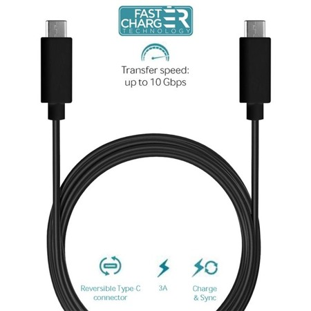Kabel Puro USB TYP-C Charge and Sync Cable 3A 1m czarny