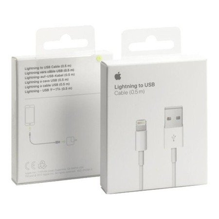Oryginalny Kabel USB - APPLE ME291ZM/A iPhone 5/5c/5s/6/iPad Air 0.5m blister