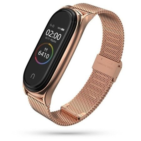 PASEK TECH-PROTECT MILANESEBAND XIAOMI MI BAND 5/6 ROSE GOLD