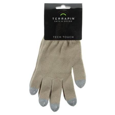 Rękawiczki Terrapin do ekranów dotykowych - uniwersalne beżowe