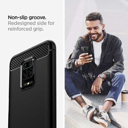 SPIGEN RUGGED ARMOR XIAOMI REDMI NOTE 9S/9 PRO/9 PRO MAX CRYSTAL CLEAR