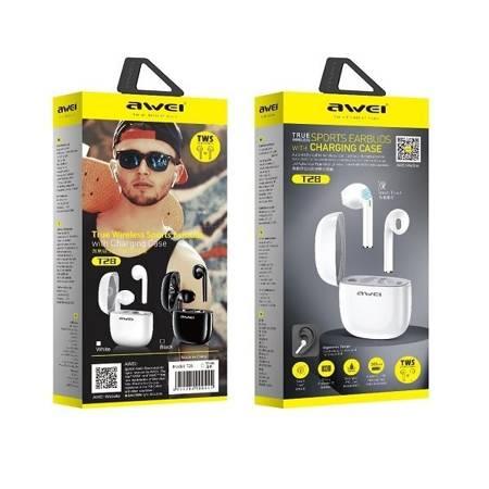 Słuchawki Bezprzewodowe AWEI T28, Bluetooth, Biały