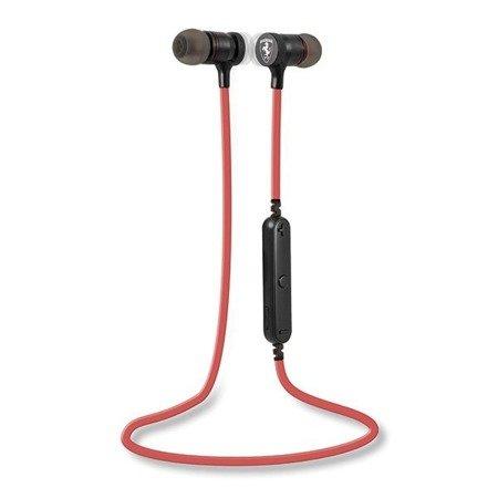 Słuchawki Bezprzewodowe Ferrari Bluetooh, Czarno-Czerwone