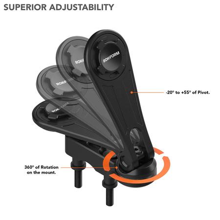 Uchwyt RokForm aluminiowy montowany w obudowę przełączników czarny (Harley-Davidson)